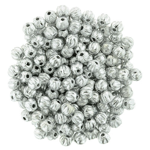 3mm Melon - Silver (100 Beads)
