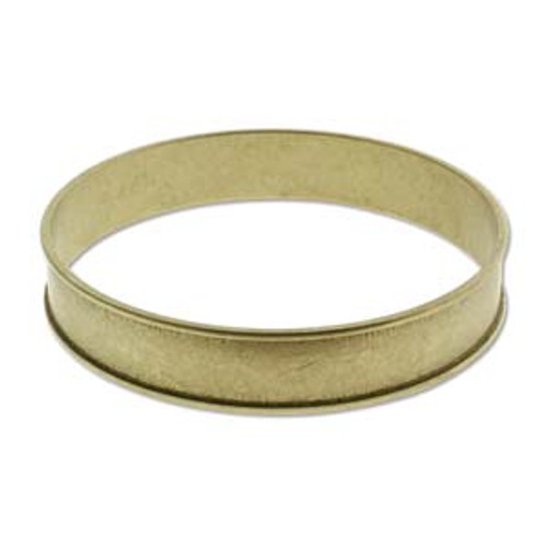 Bracelet Bangle Raw Brass Round 1/2 Inch ID-65.5