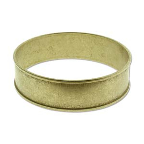 Raw Brass Bangle 3/4 ID
