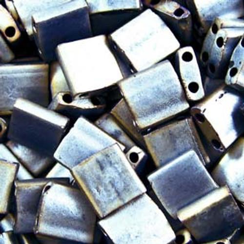 Matte Metallic Silver Grey 5mm Tila Beads (TL2002)