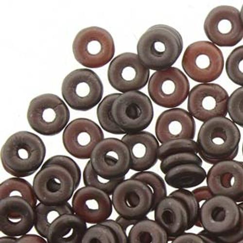 Pastel Dark Brown / Bronze O Beads - 8 Grams