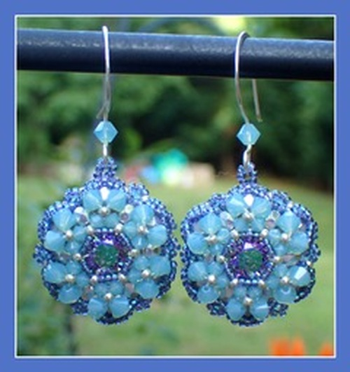 Bloom Earrings Instant Download Pattern