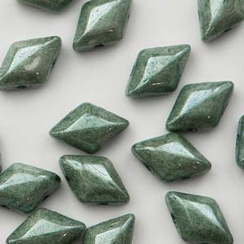 8 Grams 8x5mm Chalk Green Luster Gemduo's