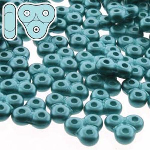 8 Grams 3x6mm Pastel Emerald Trinity Beads