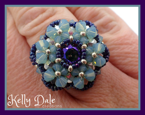Bloom Ring  Tutorial  - Instant Download Pattern