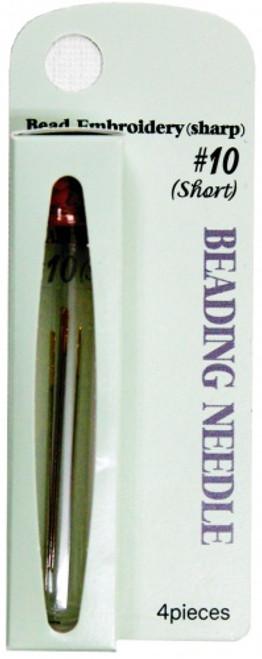 Tulip Size 10 Beading Needle (Short/Sharp) 4pc