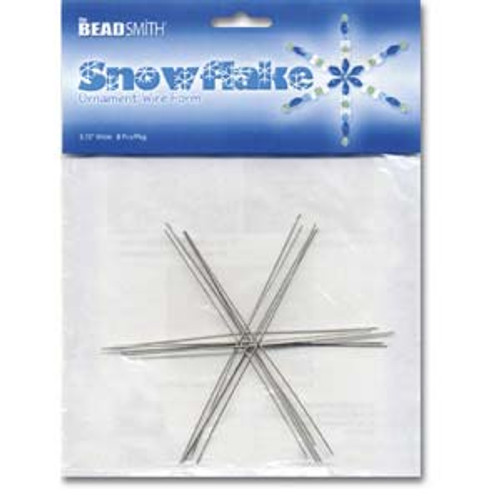 "3.75"" Snowflake Wire Form"