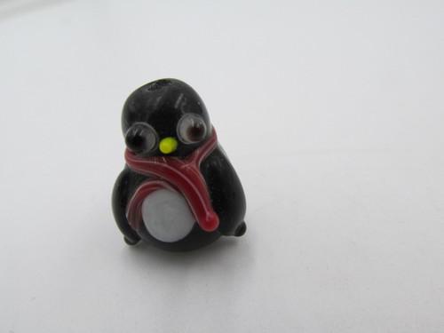 20x15mm Glass Christmas Penguin Bead
