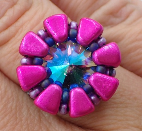 Double Daisy Ring Kit - Pink Color Scheme