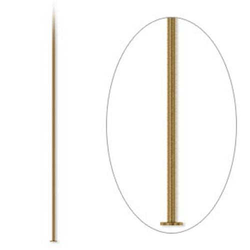 """100pk 2"""" 24ga Antique Gold Headpin"""