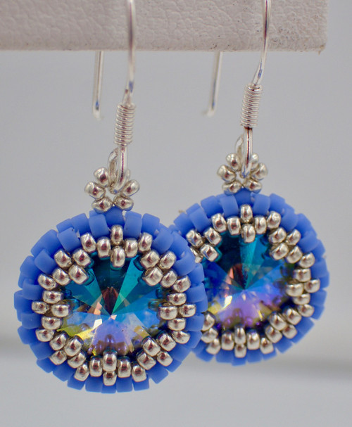 Blue Color Scheme Peek-A-Boo Earrings Jewelry Making Kit