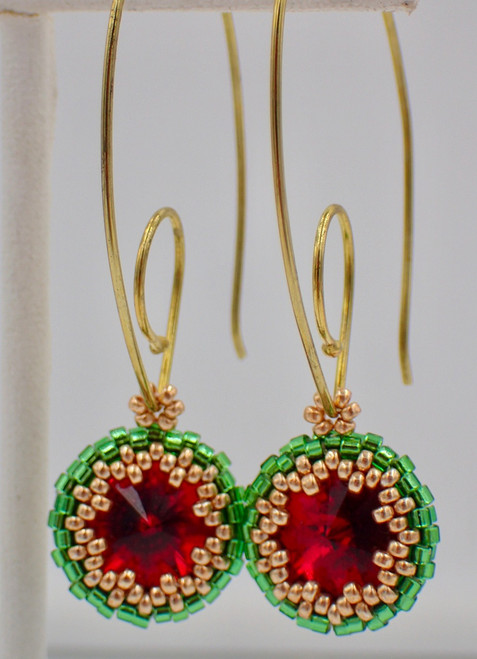 Christmas Color Scheme Peek-A-Boo Earrings Jewelry Making Kit