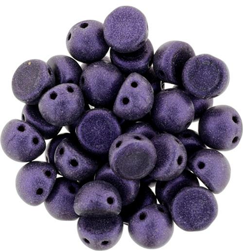 Metallic Suede Purple Czechmate Two Hole Cabochon