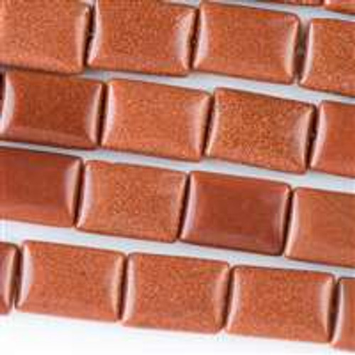 10x14mm Goldstone Rectangle - 8 inch strand