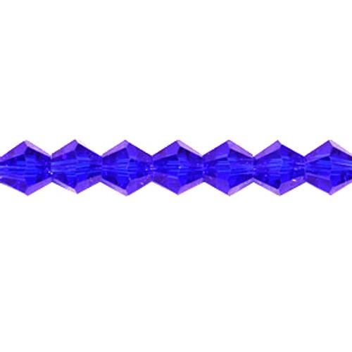 3mm Dark Sapphire Thunder Polish Crystal Bicones