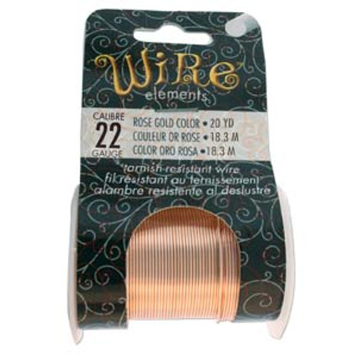 22ga Rose Gold Tarnish Resistant Wire - 20yds