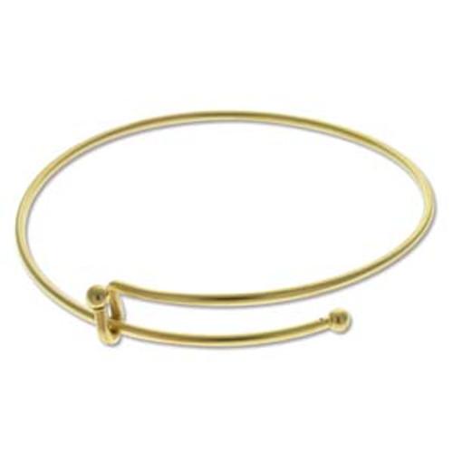 Matte Gold Expandable Wire Charm Bracelet