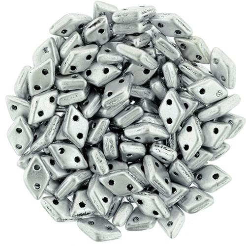 Matte Metallic Silver Czechmate Diamond (8 Grams)