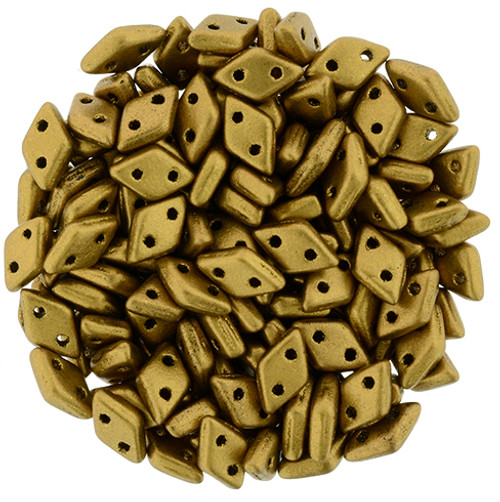 Matte Metallic Goldenrod Czechmate Diamond (8 Grams)