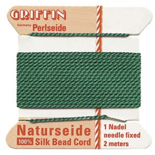 Number 10 Green Griffin Silk Cord