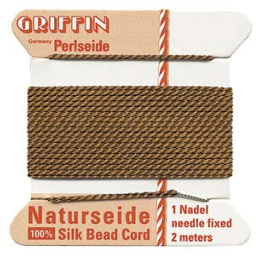 Number 8 Brown Griffin Silk Cord