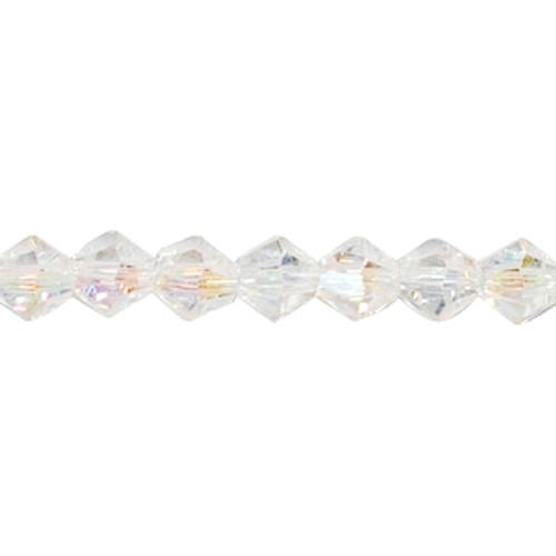 4mm Crystal AB Thunder Polish Crystal Bicones (144pk) 4BIAB