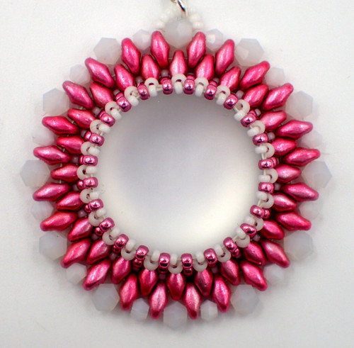 Bursting Flower Pendant Kit - Pink & White