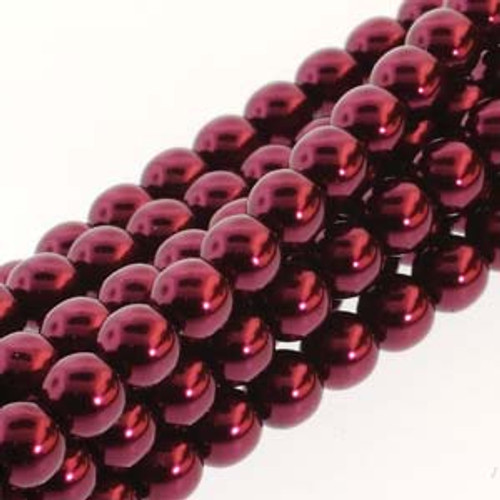 3mm Burgundy Glass Pearls - 150 Beads