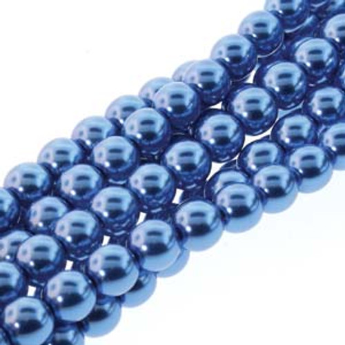 3mm Persian Blue Glass Pearls - 150 Beads