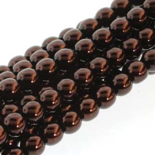 4mm Bronze Glass Round Pearls - 120 Beads