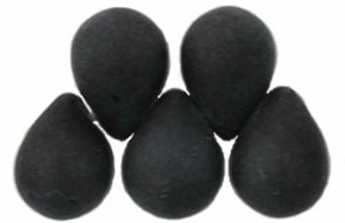 8x6mm Matte Black Tear Drops (48-50 Beads)