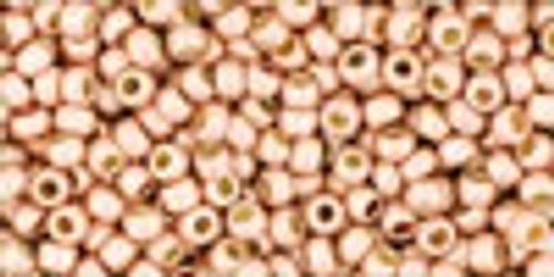 11/0 Permafinish Matte Galvanized Peach Coral Toho (22 Grams)(11-PF552F)