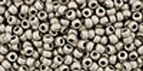 11/0 Metallic Frosted Antique Silver Toho (20 Grams)(11-566)