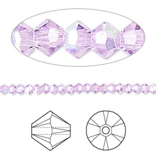48pk 3mm Violet AB Swarovski Bicones