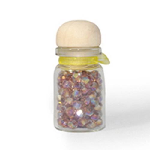 3mm Medium Amethyst AB Thunder Polish Bicone Crystals (144pk) #10AB