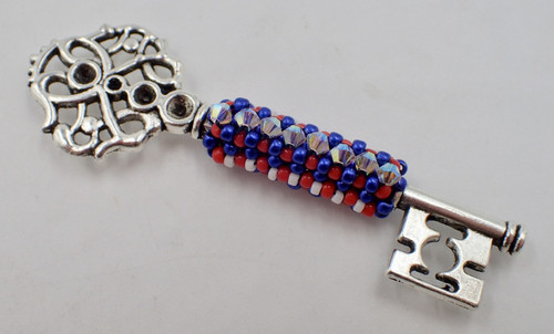 Key for a Cure Pendant Kit - Red, White, & Blue