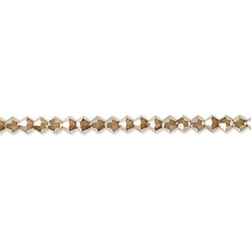 48pk 3mm Golden Flare Preciosa Bicones