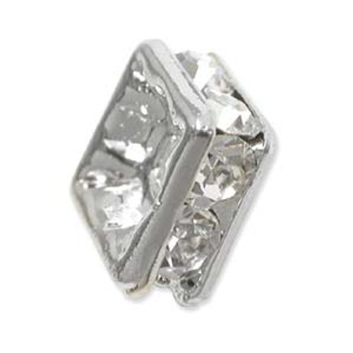 4mm Squaredelle Crystal 6pk