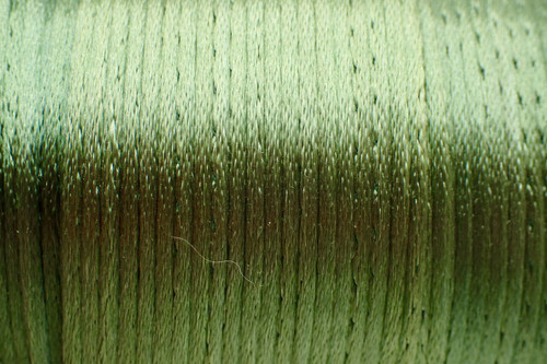 1.5mm Parrot Green Rayon Rattail Cord - Per Yard