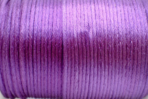 1.5mm Violet Rayon Rattail Cord - Per Yard