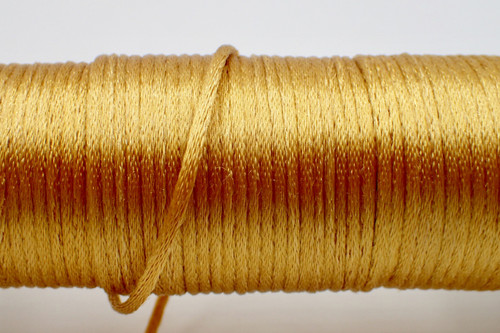 2mm Golden Rayon Rattail Cord - Per Yard