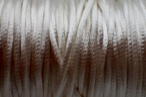 1.5mm Ivory Rayon Rattail Cord - Per Yard