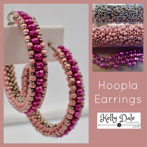 Hoopla Earring Kit - Pink