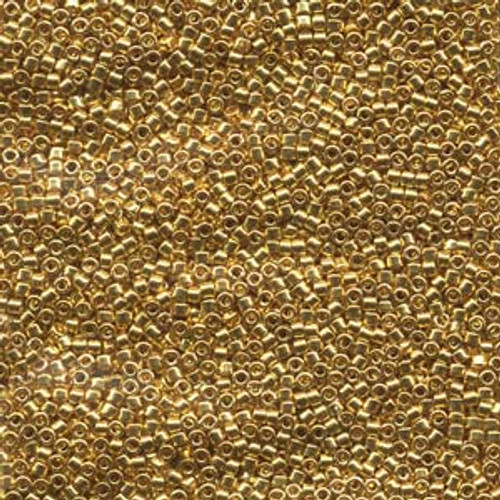 Gold 24kt. Plated 11/0 Delica Bead db031 (8 Grams)