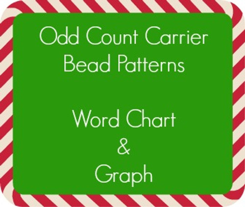 Odd Count Carrier Bead Patterns Instant Download - Christmas Colors (18 Files)