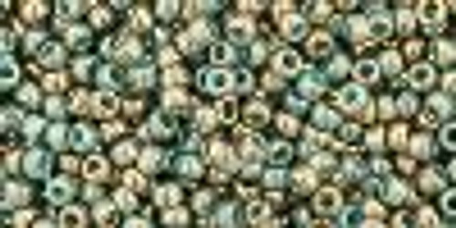 11/0 Gilded Marble Turquoise TOHO (22 Grams) 11-1703