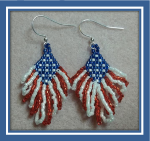 Star Spangled Earrings Instant Download Pattern