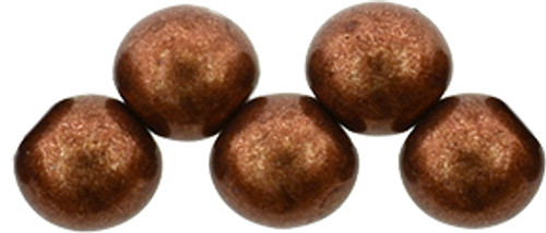 6mm Top Drilled Rounds - Saturated Metallic Potter's Clay - 25pc