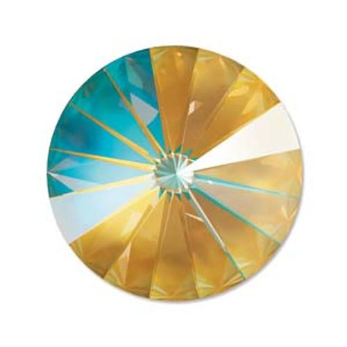 14mm Crystal Ochre Delight Delight Rivoli (1 Piece)