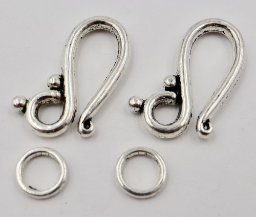 21mm Swirl Hook & Eye Clasp (2 Sets)